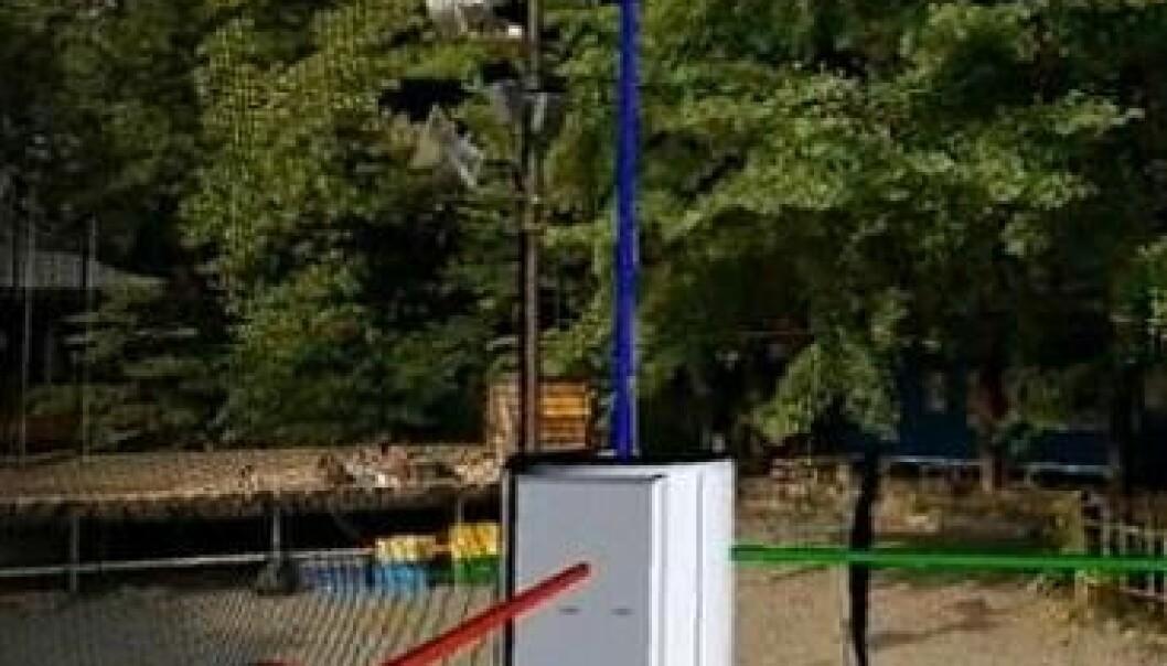 Politiets nye 3D-skannere kan brukes til å lage detaljerte modeller av et åsted. Produsenten/Riegl