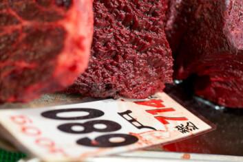 Japansk forskningsfangst havner i delikatessediskene i japanske butikker. (Foto: Photos.com)