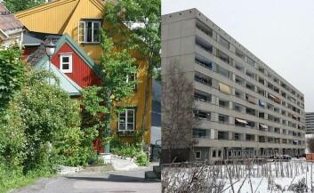 Hva om du kan kombinere trehusenes estetikk og varme med blokkbebyggelsens tetthet? Arkitektforskerne mener trehus kommer til å bli en vanligere del av bybildet i fremtiden. (Foto: Trond Strandsberg/Kindrob/Wikimedia Creative Commons)