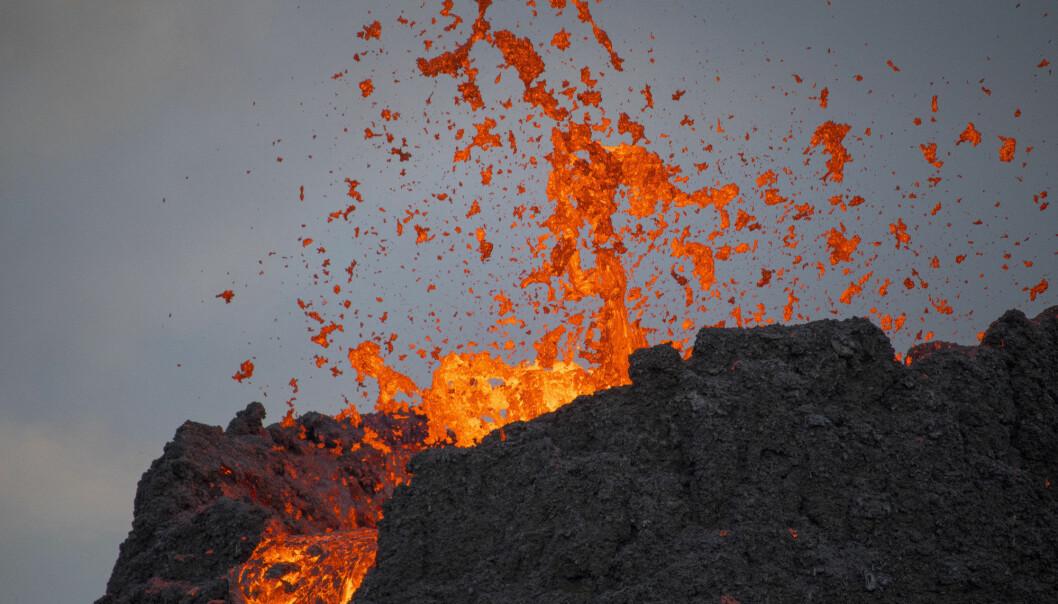 Vulkanen som nå har utbrudd, er ganske nærme hovedstaden Reykjavík. Men ikke så nærme at det ble farlig for folk.