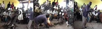 Tradsjonell forestilling med akan fortellerteater, som fant sted i Asassan i Ghana 8. mars 1998. (Foto: Ferkah Ahenkorah)