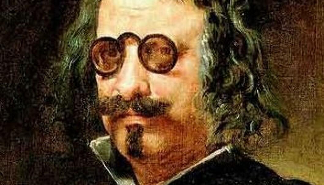 Francisco de Quevedo, måla av Juan van der Hamen. (Illustrasjon: Wikimedia Commons)
