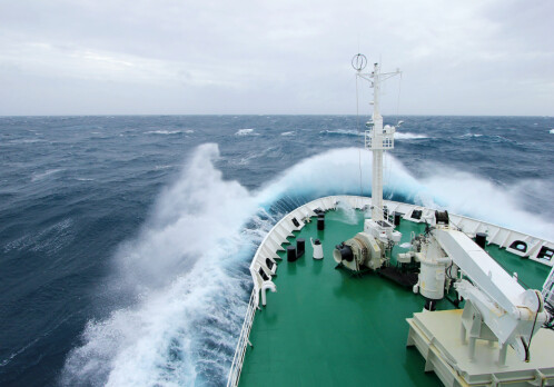 Using ships themselves to monitor and predict waves