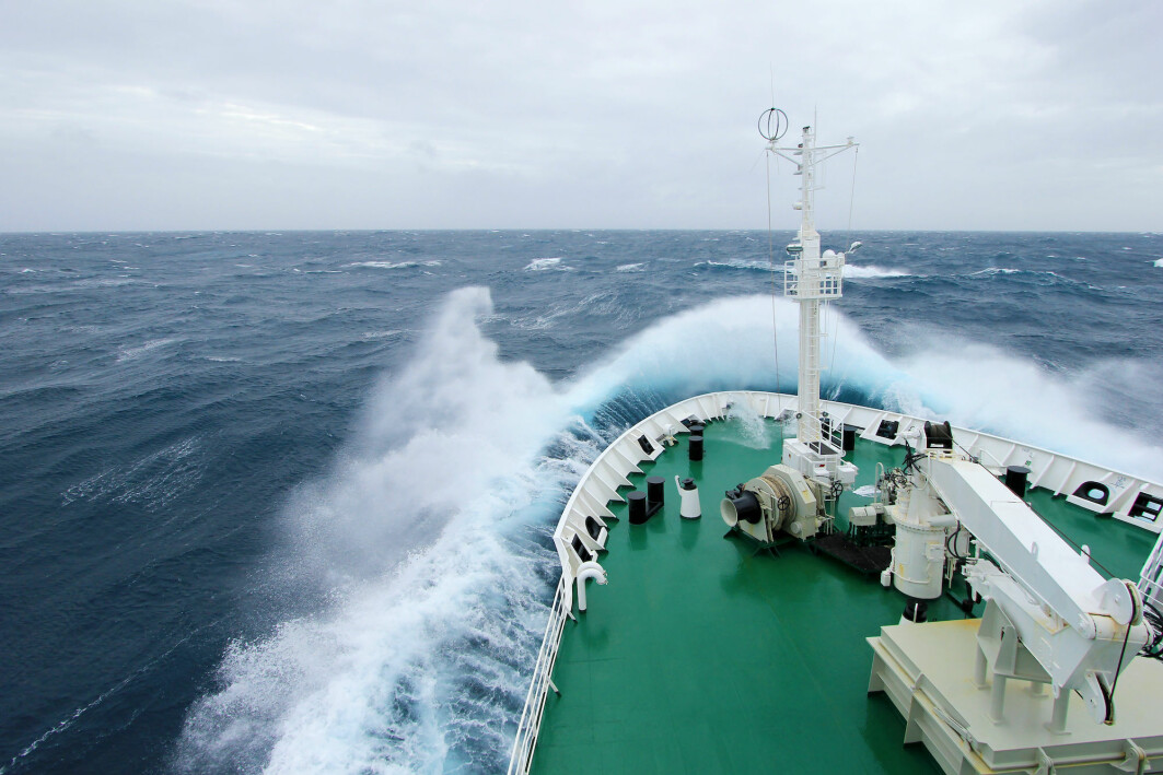 Big ships are designed to handle heavy seas, but it's important to be able to anticipate what will happen with waves.