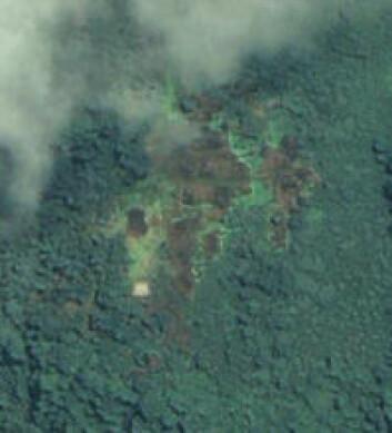 """""""Dette bildet fra 24. juni 2007 viser flere branntomter, antagelig restene etter en bosetning som skal ha blitt angrepet i april samme år."""""""