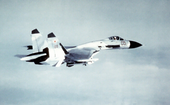 Sukhoi SU-27, kodenavn Flanker (Foto: US. Department of Defence, Wikimedia Commons)