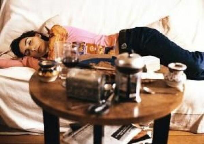 En siesta gjør søvnbehovet om kvelden mindre. (Foto: Colourbox)