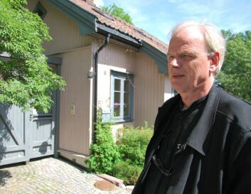 Rett i nærheten av Marius Nygaards arbeidsplass finner vi både nyblokker i stål og mur, og småhusene i Telthusbakken. Begge er inspirasjoner når trehus skal gjenoppdages i urbane strøk. (Foto: Hanne Østli Jakobsen)