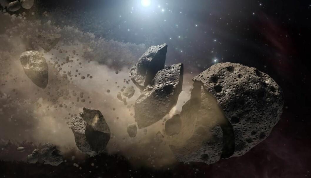 Asteroiden som til slutt traff jorden, kan ha sprukket opp i asteroidebeltet mellom Mars og Jupiter, før den ble slynget mot jorden, ifølge NASA.