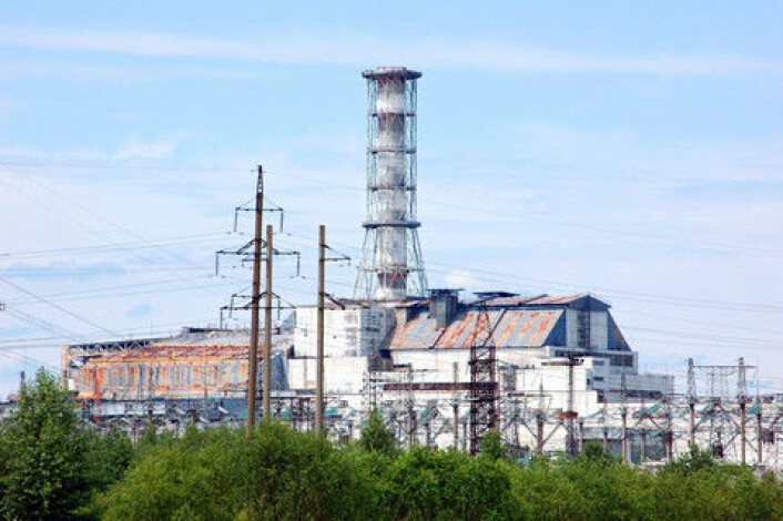 Den nye hallen i Tsjernobyl-kraftverket er 110 meter høy og 257 meter bred. (Foto: Colourbox)