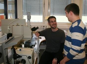 Pollenkornets kjemiske sammensetning analyseres med infrarød vibrasjons-spektroskopi. (Foto: Achim Kohler)