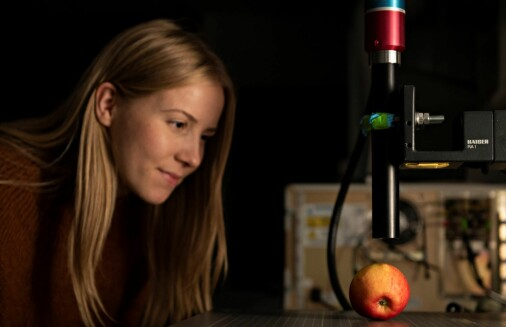 Hun ser hvordan molekylene svinger i maten