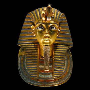 Dødsmasken til faraoen Tutankhamon fra The Egyptian Museum in Cairo. (Foto: Wikimedia Commons, se lisens her)