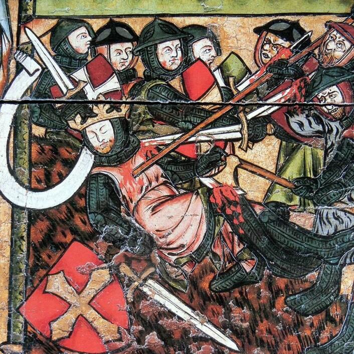 Mytene rundt Olav den Helliges liv og død er nok ikke nødvendigvis 100 prosent historisk korrekte. De var allikevel svært viktige for byggingen av nasjonen Norge. Her fra Olavsfrontalet i Nidarosdomen.