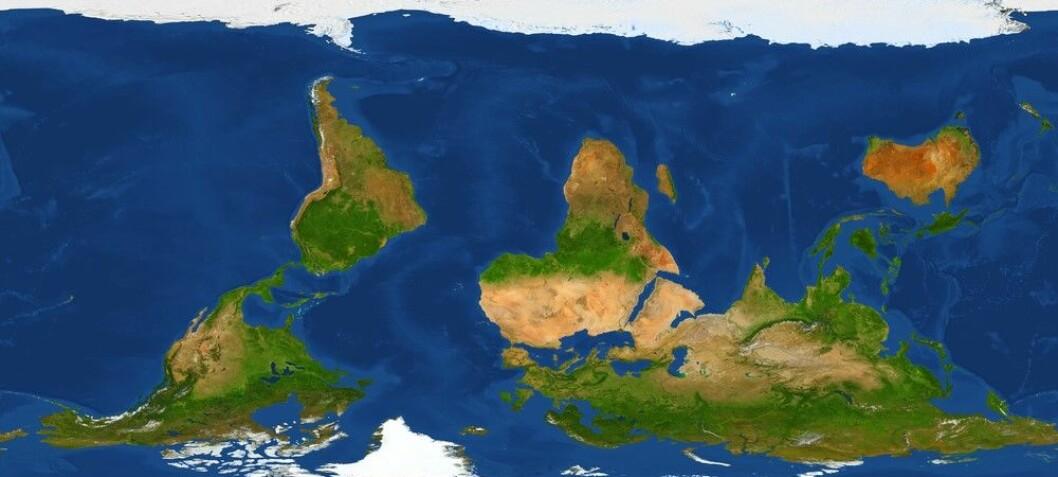 Hvem bestemte at nord er oppe og sør er nede på verdenskartet?