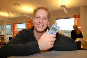 Forskeren som fant opp det nye telefonisystemet, Terje Solvoll. (Foto: Jan Fredrik Frantzen)