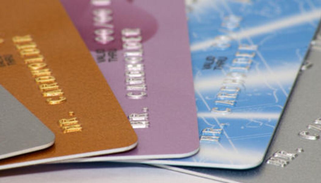 """""""Tenk om alle betalingskort hadde hatt ulike formater... Foto: ScanStockPhoto."""""""