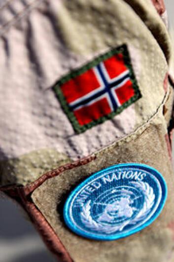 Norge er en betydelig bidragsyter til FN - her norsk deltakelse i fredsbevande styrker i regi av FN. (Foto: Forsvaret/Lars Magne Hovtun)