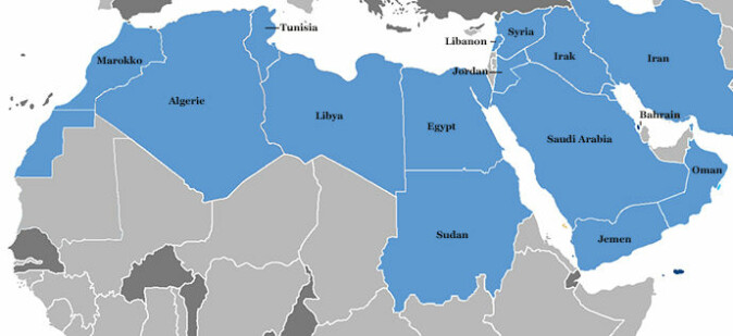 Landene hvor det var protester våren 2011: Marokko, Algerie, Tunisia, Libya, Egypt, Sudan, Syria, Libanon, Jordan, Irak, Iran, Jemen, Saudi-Arabia, Bahrain og Oman.