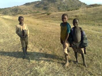 Barn langs veien i Malawi. SSB hjelper dem med å få bedre oversikt over hva som foregår i landet deres.
