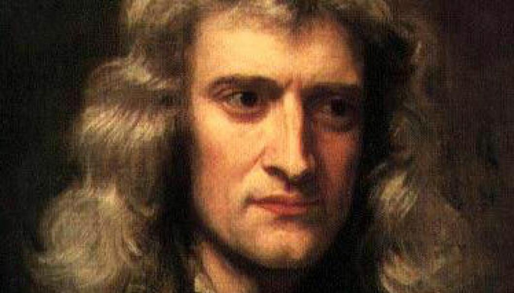 Som matematiker bygget Newton teoriene sine rundt arbeidet til den franske filosofoen og matematikeren René Descartes. (Illustrasjon: Sir Godfrey Kneller/Wikimedia Commons)