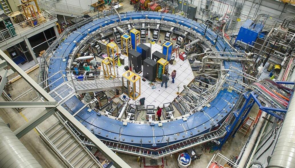 Muon g-2-eksperimentet ved Fermilab i USA.