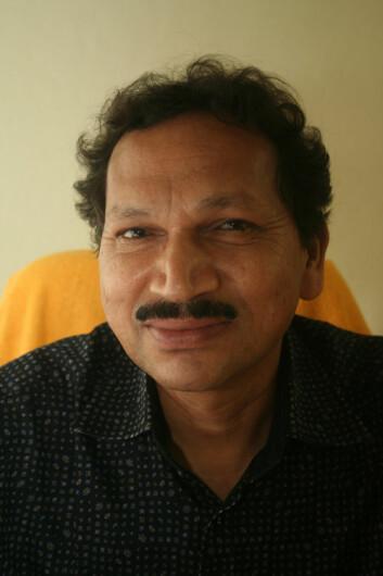 Professor V. Krishna leder Centre for Dalit and Adivasi Studies and Translation ved University of Hyderabad i den indiske delstaten Andhra Pradesh. (Foto: Asle Rønning)