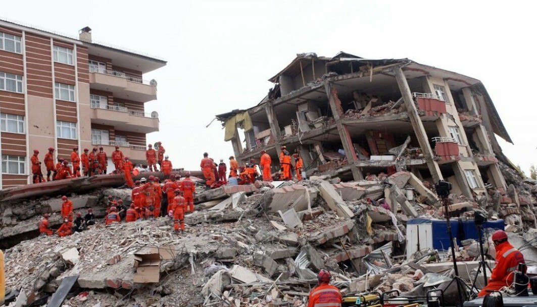 Collapsed house following an earthquake in Van, Turkey on 25 October 2011. 604 people died.