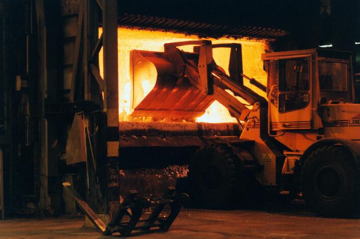 Resirkulering av aluminium i Holmestrand. (Foto: Terje S. Knudsen/Norsk Hydro)