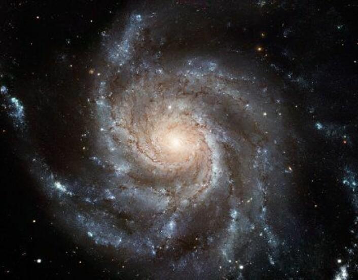 """""""Spiralgalaksen Messier 101 (M101). Den ligger rundt 25 millioner lysår fra Jorden. Ikke godt å si hva som skjuler seg der inne."""""""