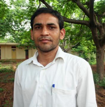 Bhim Singh fra delstaten Rajasthan forsker på språk og kultur hos sitt eget folk. (Foto: Asle Rønning)
