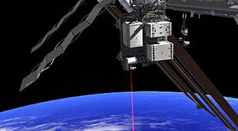 Video og laser fra romstasjonen