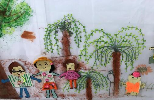 I kinesisk barnehage: Dei mest eksemplariske teikningane fekk plass