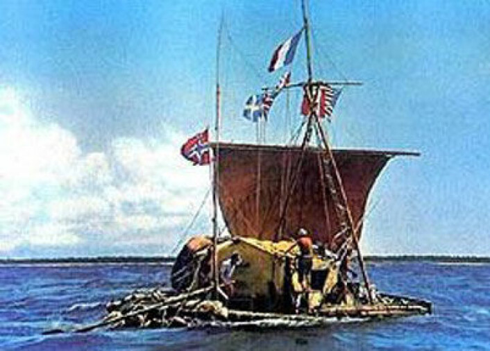 Kon-Tiki i 1947 (Foto: NASA)