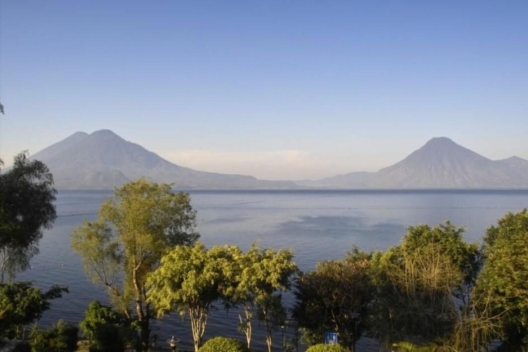 Innsjøen Lake Atitlán i Guatemala ligger i fordypningen etter utbruddet til supervulkanen Los Chocoyos. Utbruddet kan ha hatt store konsekvenser for luftstrømmer i tropisk atmosfære, ifølge en ny studie.