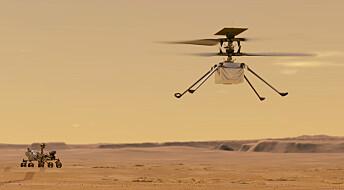 Nasas Ingenuity-drone har lyktes i å fly på Mars