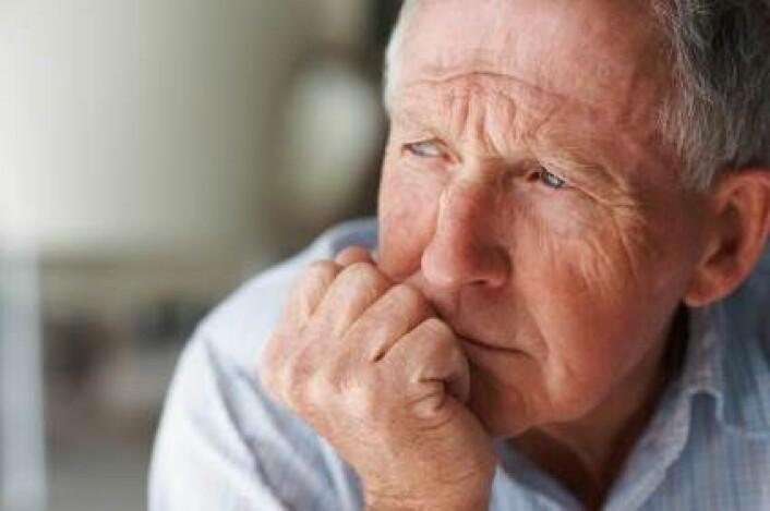 Depresjon blandt eldre menn er utbredt. (Illustrasjonsfoto: iStockphoto)