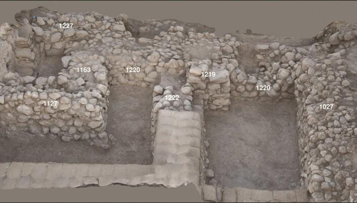Området der potteskåret ble funnet.
