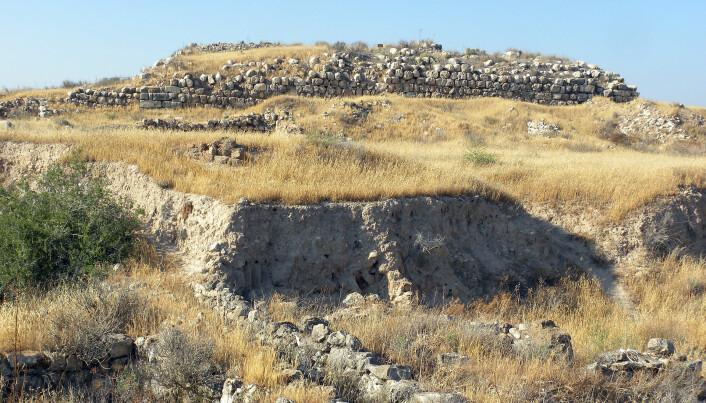 Noen av restene som fortsatt kan sees ved Tel Lachish i dagens Israel.