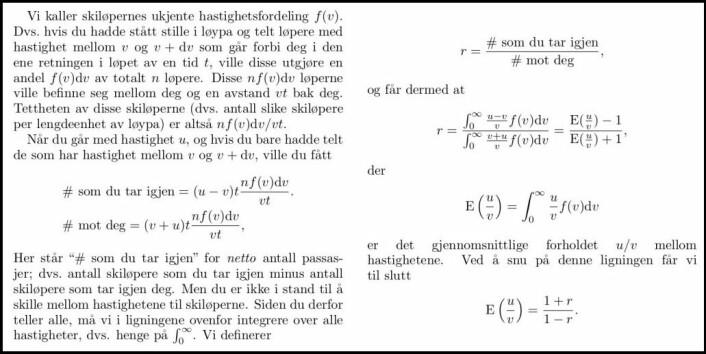 Utregningene beviser at den enkle formelen er nok! (Foto: (Illustrasjon: NTNU))