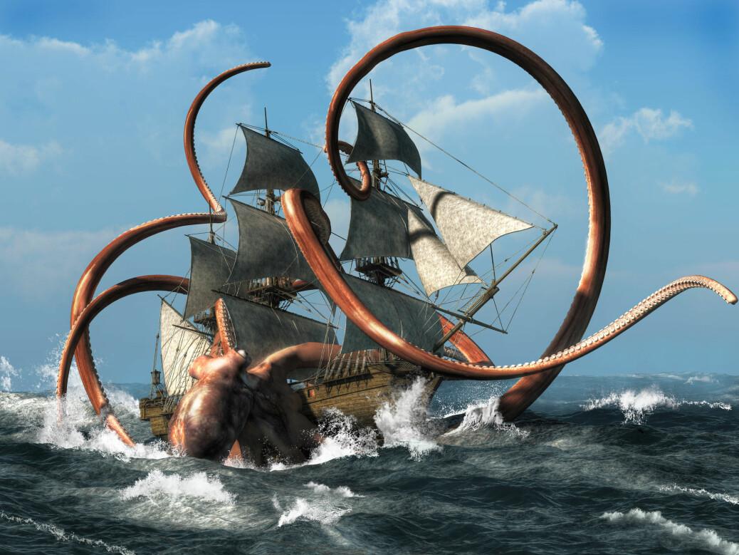 Kraken var i begynnelsen et «snilt» monster, men ble senere tillagt grusomme egenskaper.