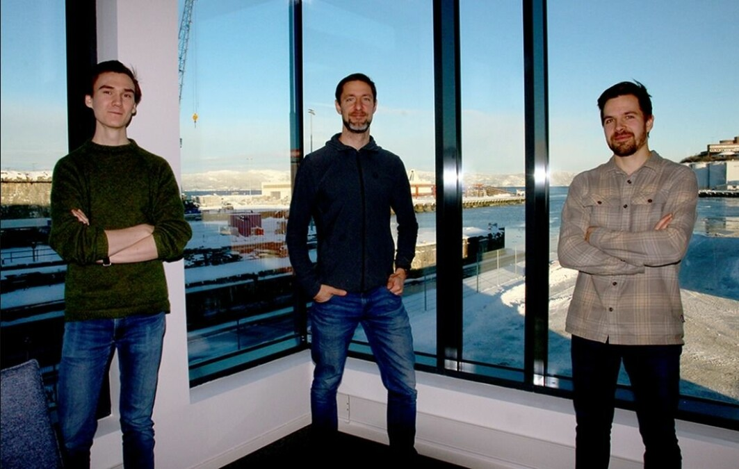 This trio from NTNU's Department of Design is playing a central role in the research work at the new NTNU Shore Control Centre. Left to right are research assistant Thomas Kaland, professor Ole Andreas Alsos and PhD candidate Erik Veitech.