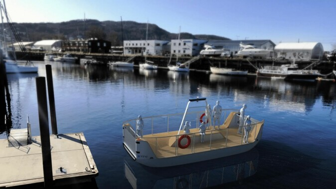 This is what the new ferry that will go into traffic across the Channel in Trondheim will look like.