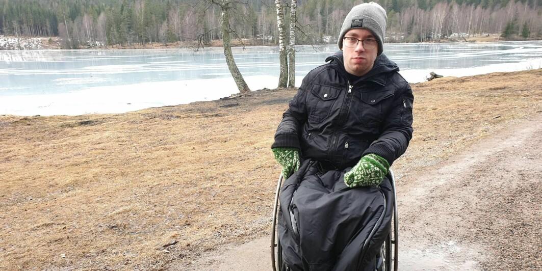 Johannes Loftsgård har cerebral parese og er rullestolbruker.