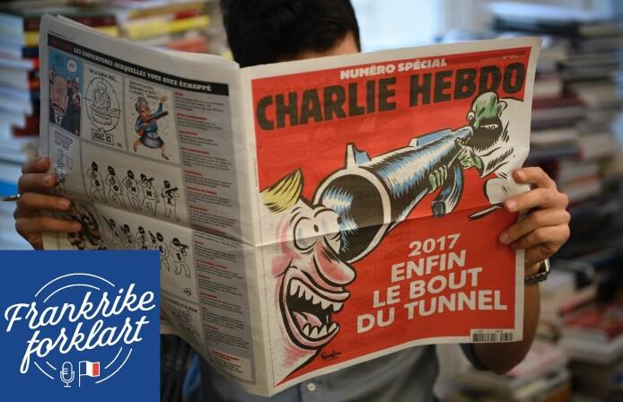 Franske karikaturtegninger i skuddlinjen