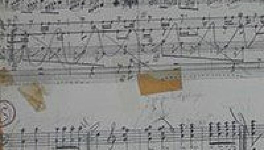 Rekonstruerer gamle noter