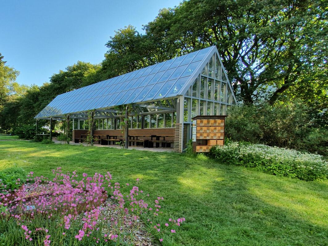 Forskningshotellet er plassert ved Hagehuset i Botanisk hage, mellom Lids hus og Monrads gate.