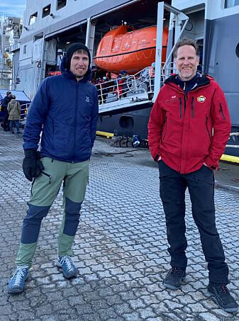 Toktlederne Martin Ludvigsen (NTNU) & Philipp Assmy (NPI) og 34 andre forskere er akkurat ferdig med isolasjon og klare for å seile på tokt til Barentshavet.