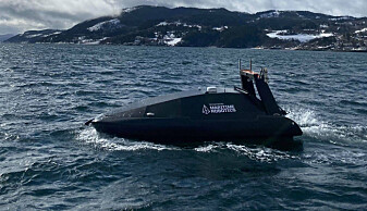 Een onbemand schip klaar voor actie in de Noordpool.