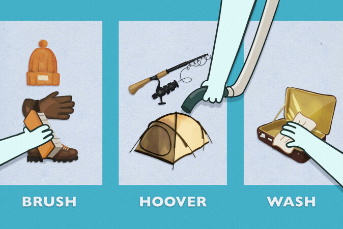 The main message for travelers to Arctic regions is that they should brush, hoover and wash clothes, shoes, luggage and equipment before they start their journey.